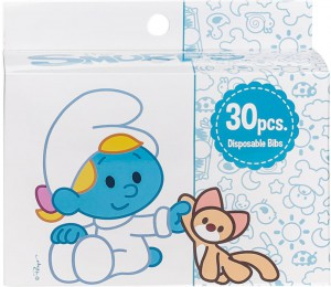 The Smurf - Box of 30 Disposable Bibs