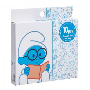 The Smurf - Box of 10 Disposable Toilet Seat Covers