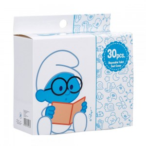 The Smurf - Box of 30 Disposable Toilet Seat Covers
