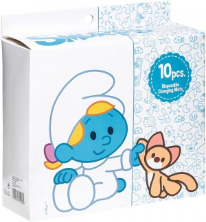 The Smurf - Box of 10 Disposable Changing Mats