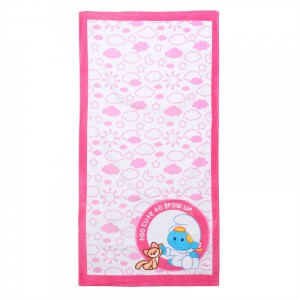 The Smurf - Beach Towel - White/Pink