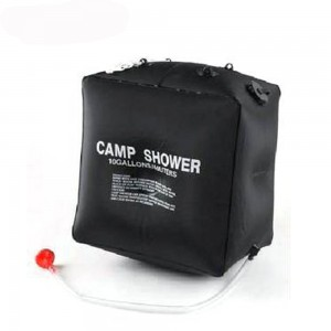40L Solar Camping Shower Bag Outdoor Solar Energy Heated Camp PVC Water Bag Portable Camping Showers for Camping - Black