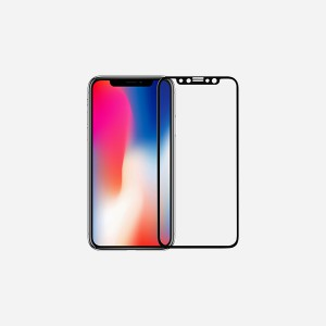 Momax - Apple iPhone X  Full Frame 2 in 1 Glass Screen Protector (0.2mm) - Black