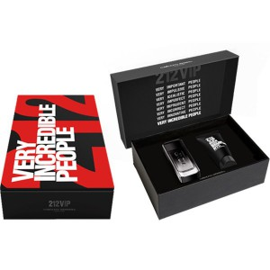 Ch 212 Vip Black Perfume Set For Men 100ml edp+SG 100ml