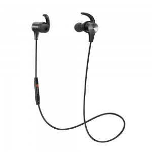 TaoTronics Bluetooth Sports Headphones with Built-in Magnets Black - TT-BH07