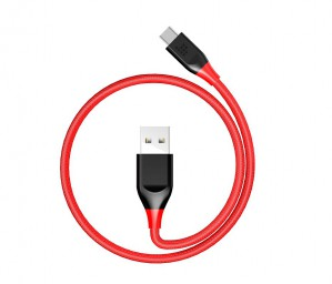 Tronsmart - Type-C Cable  Braided Nylon USB-C to USB-A 3.3ft 1m - Red+Black