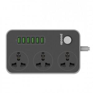 Porodo 6 Usb Ports with 3 Power Sockets 3.4A - PD-SC3604