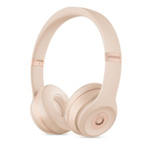 Beats Solo3 Wireless On-Ear Headphones Matte Gold - AP2MR3Y2
