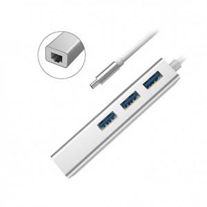 Devia Leopard Type-C 3.0 TO RJ45/USB3.1 HUB(1000MBPS) - 987299-SL