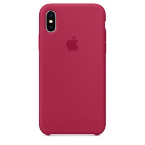 Apple - iPhone X Silicone Case - Rose Red - AP2MQT82