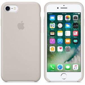 Apple - iPhone 7 Silicone Case - Stone - AP2MMWR2