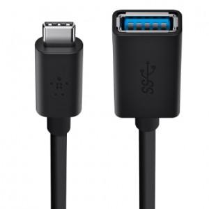 Belkin Adapter USB 3.0 - Type C-USB a - Black - USB - BKN-F2CU036BTBLK