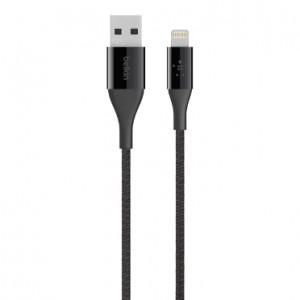 Belkin Ironman Kevlar Enforced Lightning Cable - Mfi Approved - Black (BKN-F8J207BT04-BLK)