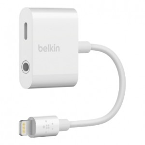 Belkin 3.5mm Audio + Charge Rockstar Adapter - White (BKN-F8J212BTWHT)