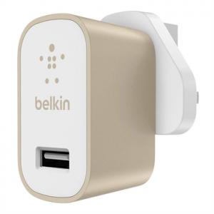 Belkin Premium Ultra-fast 2.4amp Ac Charger UK - Gold (BKN-F8M731DRGLD)