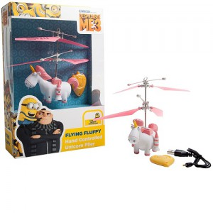 Wow! Stuff - Despicable Me 3 Hand Controlled Flying Toy - Fluffy (Unicorn) - Min-1018