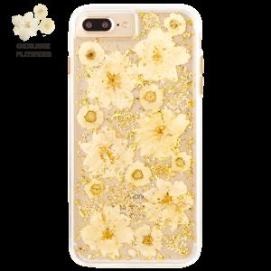 Case-Mate - iPhone 8/7/6s/6 Plus Karat Petals Case - Antique White (CM-CM036172)
