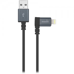 Moshi Lightning to USB With 90 Degree Connector 1.5m - Black - MSHI-L-023043