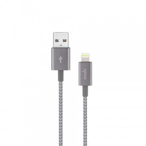 Moshi Integra USB-A Charge / Sync Cable With Lightning Connector - Titanium Gray - MSHI-L-023044