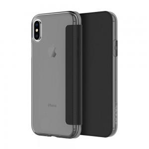 INCIPIO iPhone X Ngp Folio Case - Smoke / Black - ICP-IPH1648-SMK
