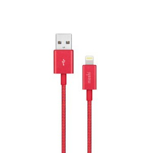 Moshi Integra USB-A Charge / Sync Cable With Lightning Connector - Crimson Red - MSHI-L-023321