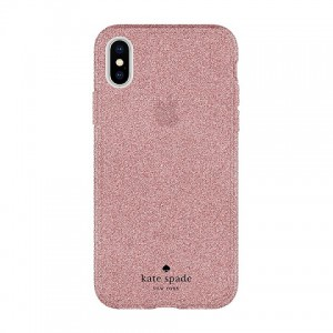 Kate Spade Ny Iphone X Flexible Glitter Case - Rose Gold (KSIPH-090-RGG)