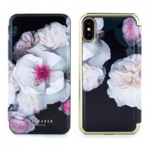 Proporta Ted Baker iPhone X Mirror Folio Case Malibai - Chelsea Black (PRO-53079)