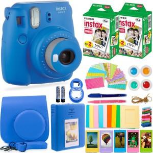 Fujifilm Instax Cam Mini 9 - Case + Album + Film + Accessories - Cobalt Blue - 6270351622440