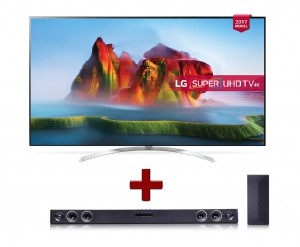"LG TV 65"" Smart 4K UHD HDR LED, HDR with Dolby Vision  -65SJ850V.AMA - Free LG Sound Bar 2.1Ch. SH3B"
