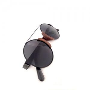 Artemis Wood Sunglasses-Paris - Black