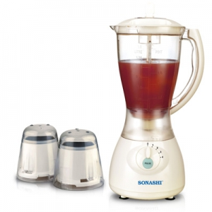 Sonashi 3 in 1 Blender Un-Breakable Jar & Mill - SB-133