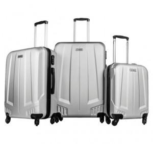Style - U.S. Polo -  4 Wheels Luggage ( Set Of 3 )