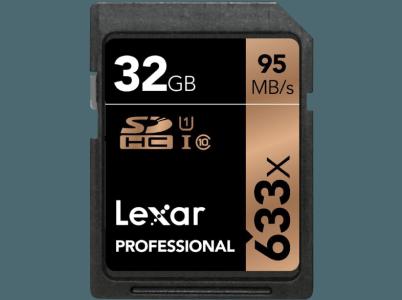 Lexar 32GB 633x Prof SDHC Card - LSD32GCB1EU633