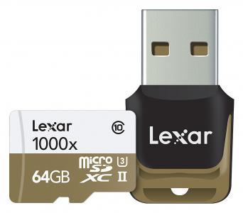 Lexar 64GB Micro SDXC UHS-II 1000x With Reader CL10