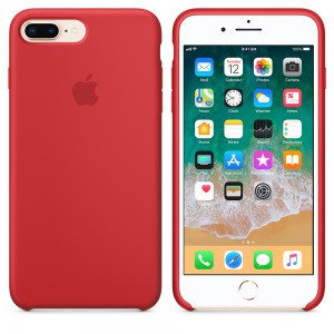 Apple - iPhone 8 Plus / 7 Plus Silicone Case - (PRODUCT)RED - AP2MQH12
