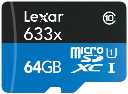 Lexar 64GB Micro SDXC High-Speed W-Adapter(Class 10)