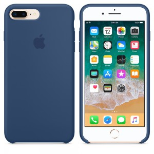 Apple - iPhone 8 Plus / 7 Plus Silicone Case - Blue Cobalt - AP2MQH02