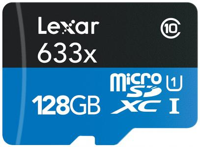 Lexar 128GB Micro SDXC High-Speed W-adapter (Class 10)