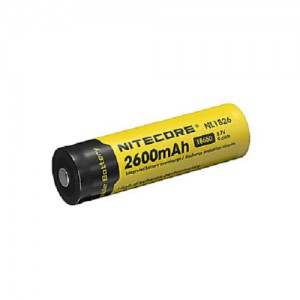 Nitecore - Rechargeable Light 18650 Battery 2600 - NL1826