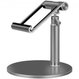 Momax - Luxury Metal Stand Holder for iPad and Tablet - Silver