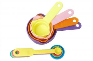 Maxed Set of 8 Pcs Measuring Cup and Spoon Multicolor