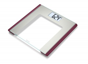 Beurer - Glass Bathroom Scale - GS 170 Ruby