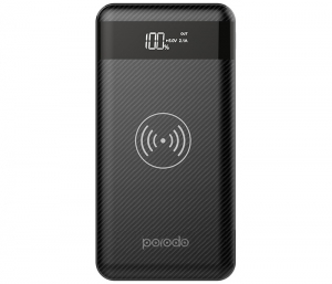 Porodo Wireless Power Bank 10000mah - Black