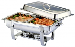 RAJ 8 Ltr. Steel Chafing Dish Two Pans