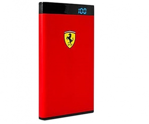 Ferrari Power Bank 12000mAh with LED Power Indicator (MicroUSB Cable included) - Red