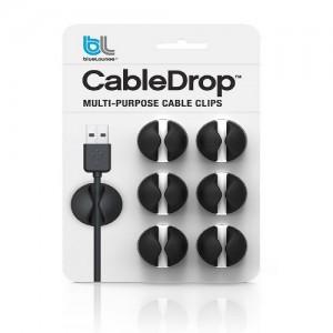 Bluelounge Cabledrop - Black Color Pack of 6
