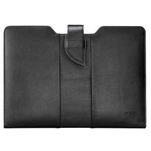 "Targus - 13.3"" Luxury Leather Sleeve for Ultrabook - Black"