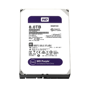 WD Purple 8TB Surveillance Hard Disk Drive - 5400 RPM Class SATA 6Gb/s 128MB Cache 3.5 Inch