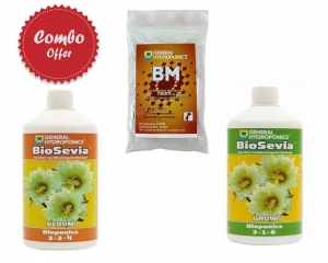 Bio Sevia - Bio Sevia Grow + GH BM Microbe Culture 10G + Biosevia Bloom 1L