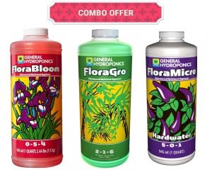 Flora Series - FloraMicro Hardwater 1L + FloraBloom 1L - FloraGro 1L - General Hydroponics